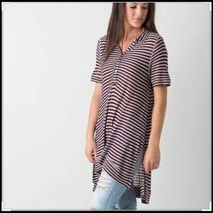 We the Free Ryan Stripe Henley Tunic